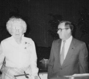 Dauphine Marshall & Mayor Larry Kelly